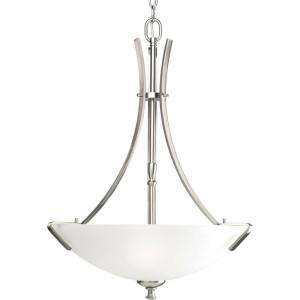 Progress Lighting Wisten Collection Brushed Nickel 3 light Foyer