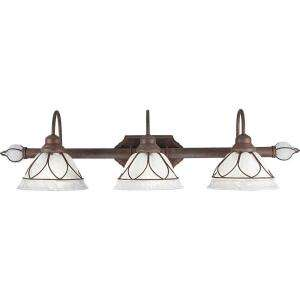 Progress Lighting Verona Collection Cobblestone 3 light Vanity Fixture