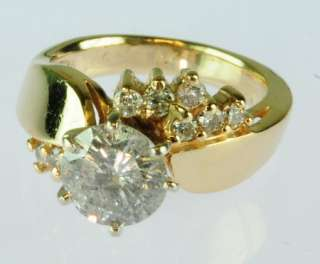 4CT 14K YELLOW GOLD DIAMOND SOLITAIRE ESTATE RING 103059