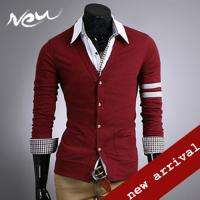 NWT Mens Stylish Slim Fit Sweater Knit Cardigan 3 Color D02