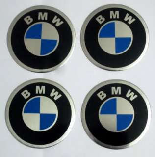 55mm BMW LOGO CAR TIRE WHEEL CENTER CAP STICKER 4PC/SET