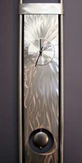 METAL MODERN ABSTRACT HUGE WALL SCULPTURE CLOCK