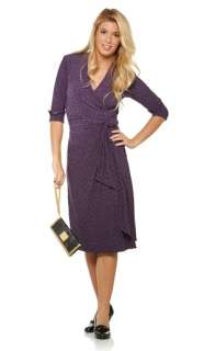 Miss Tina Printed Wrap Dress with Printed Python Clutch