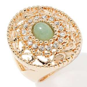 IMAN Global Chic Elegance Filigree and Crystal Ring
