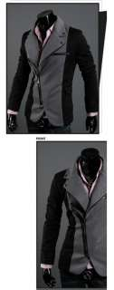 FASHION CASUAL OBLIQUE ZIPPER SLIM FIT KNIT SUIT COAT 2071