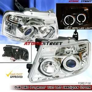 Ford F150 Headlights Chrome Clear LED Pro Headlights 2004