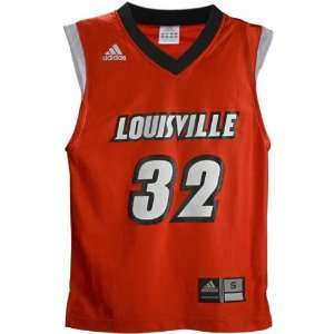 Adidas Louisville Cardinals #32 Red Youth Replica Basketball