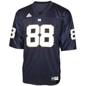 Adidas Notre Dame Fighting Irish #88 Navy Replica Football
