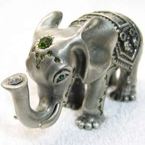 Inda Royal Elephant Crystals Bejeweled Trinket Box