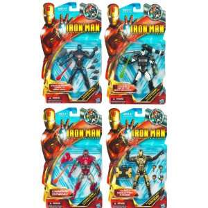Iron man 6 inch Action Figure Assortment Set Of 4 Toys