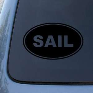SAIL EURO OVAL   Sailing Boat   Vinyl Car Decal Sticker #1739  Vinyl