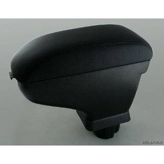 Blk Leather Center Console Armrest for 2007 2011 Nissan Versa Tiida