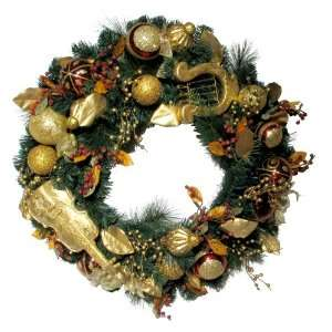 Good Tidings 4245334 Decorative Christmas Wreath with Golden Musical