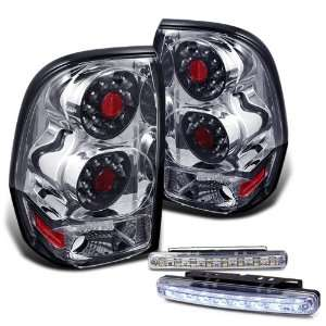 09 Chevy Trail Blazer Chrome Led Tail Lights Lamps + 8 Led Bumper Fog