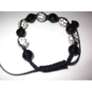 Paparazzi Bracelet 12mm 7 Disco Ball Bead Iced Out