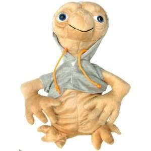 ET Extra Terrestrial 10 Plush Doll With Grey Coat Toys