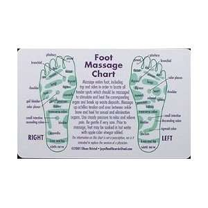 Joy of Health Reflexology Cards   Foot Massage   Wallet Cards Beauty