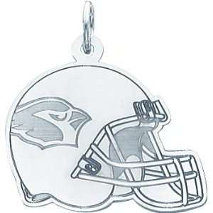14K White Gold NFL Arizona Cardinals Football Helmet Charm