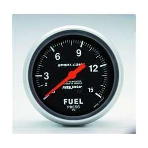 Auto Meter 3411 1 15 FUEL PRESSURE GAUGE Automotive