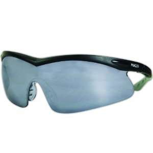 Gemstone Eyewear, Black Frameless, Mirrored Lens