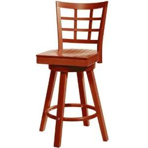Lattice Swivel Counter Stool Wood Oak