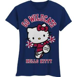 Wildcats Hello Kitty Pom Pom Girls Crew Tee Shirt