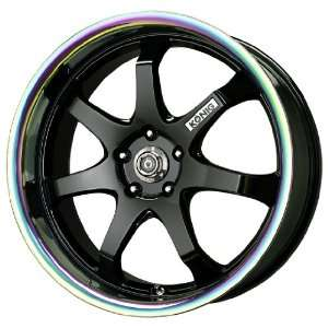 Konig After Burner Gloss Black Wheel with Prism Lip (18x8