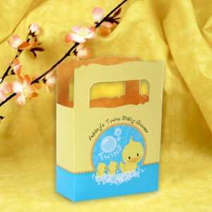 Twin Ducky Ducks   Mini Personalized Baby Shower Favor