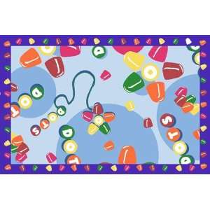 Tootsie Roll Dots Multi Colored Area Rug   1 7 x 2 5