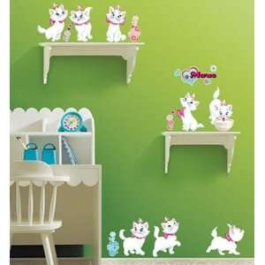 Cats Wall Paper Decor Mural Art Sticker DS 58388
