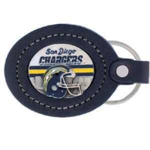 Large Leather Key Chain   San Diego Chargers