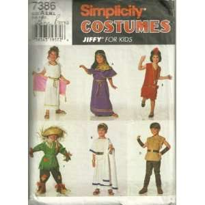 Simplicity 7386 sewing pattern makes Childrens Costumes