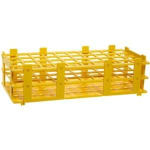 4340023 20mm 40 Tubes Yellow Polypropylene Test Tube Rack, 4 x 10 Tube