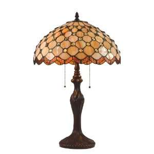 Darra Table Lamp, Dark Bronze with Tiffany Shade