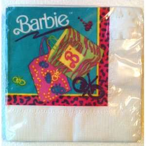 Vintage BARBIE 3 Ply Girls KIDS Party Napkins (16 Count) Toys & Games