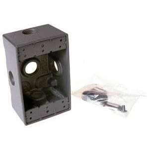 Raco 5323 0 Single Gang Weatherproof Box 5 1/2 Outlets