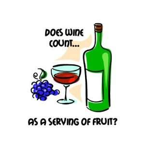 Funny wine humor saying Fridge Magnets