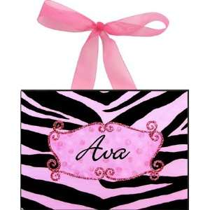 Pink Zebra Wall Plaque Toys & Games