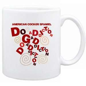 New  American Cocker Spaniel Dog Addiction  Mug Dog