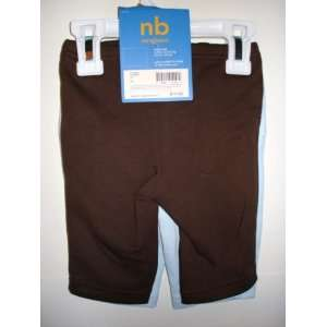 Carters Boys Newborn Brown / Blue Pants 2 Pack