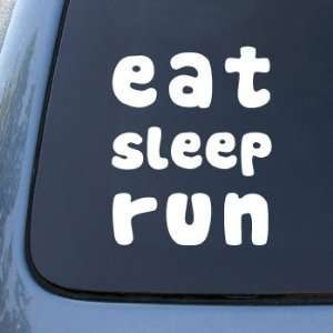 EAT SLEEP RUN   Car, Truck, Notebook, Vinyl Decal Sticker