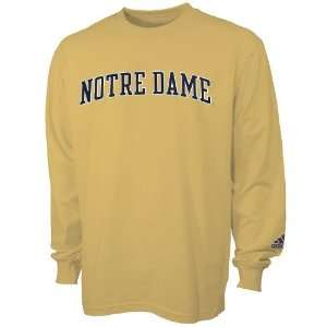 adidas Notre Dame Fighting Irish Gold Primary Long Sleeve