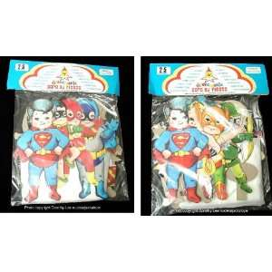 Batman Robin Superman Flash + Super Hero Figures New