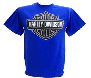 Harley Davidson Las Vegas Dealer Tee T Shirt Bar & Shield BLUE 2XL