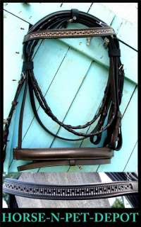 Great english bridle headstall WITH REINS for horse lovers