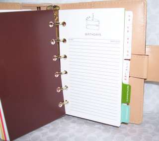 NWT KATE SPADE 2011 SMALL LEATHER DEBRA PLANNER DIARY VINE $165