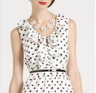 Kate Spade Natalia Polka Dot Dress ( Size 10)
