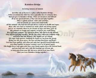 Bridge Poem Loss Of Pet Personalized Dog Cat Animal Horse Memorial