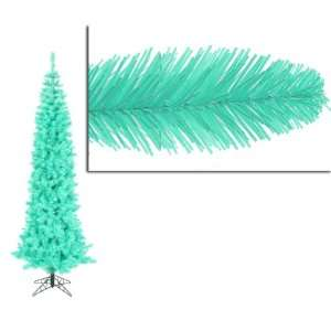 9 Pre Lit Seafoam Ashley Spruce Pencil Christmas Tree